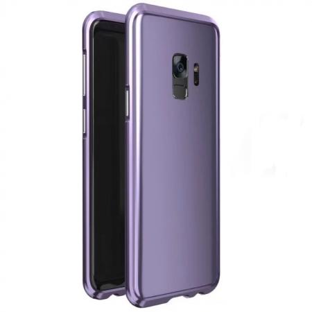 Shockproof Aluminum Metal Frame Bumper Case for Samsung Galaxy S9 - Light Purple