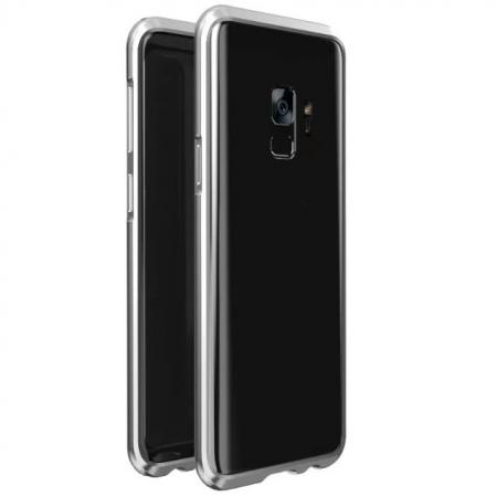 Shockproof Aluminum Metal Frame Bumper Case for Samsung Galaxy S9 - Silver