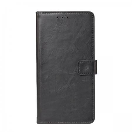 Crazy Horse Leather Flip Case Wallet With Card Holder for Huawei P20 - Black