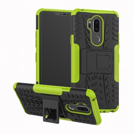 Case For LG G7 ThinQ Rugged Armor Shockproof Hybrid Kickstand Phone Cover - Green