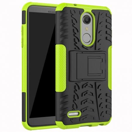 Case For LG K30 / K10 2018 Rugged Armor Defender Kickstand Phone Cover - Green