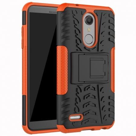 Case For LG K30 / K10 2018 Rugged Armor Defender Kickstand Phone Cover - Orange