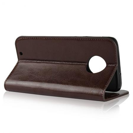 Crazy Horse Genuine Leather Flip Case Cover Stand with