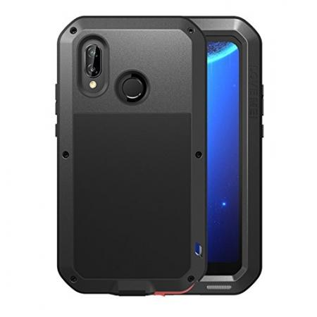 Metal Armor Shockproof Case Aluminum Cover For HUAWEI P20 Lite - Black