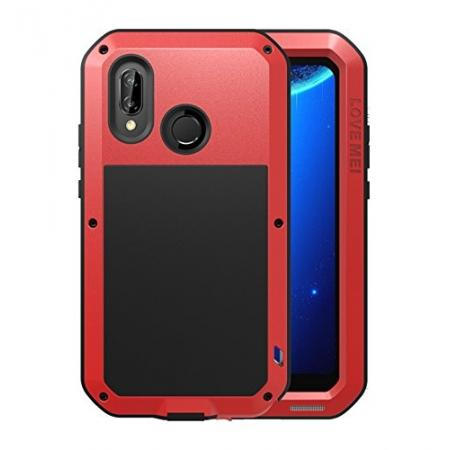 Metal Armor Shockproof Case Aluminum Cover For HUAWEI P20 Lite - Red