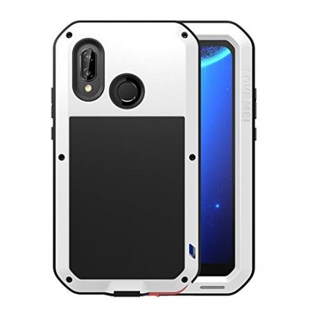 Metal Armor Shockproof Case Aluminum Cover For HUAWEI P20 Lite - White