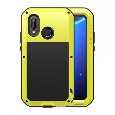 Metal Armor Shockproof Case Aluminum Cover For HUAWEI P20 Lite - Yellow