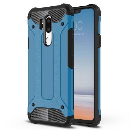 Full Slim Rugged Dual Layer Heavy Duty Hybrid Protection Case for LG G7 ThinQ - Blue