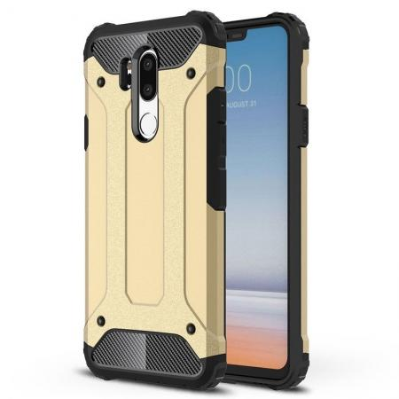 Full Slim Rugged Dual Layer Heavy Duty Hybrid Protection Case for LG G7 ThinQ - Gold