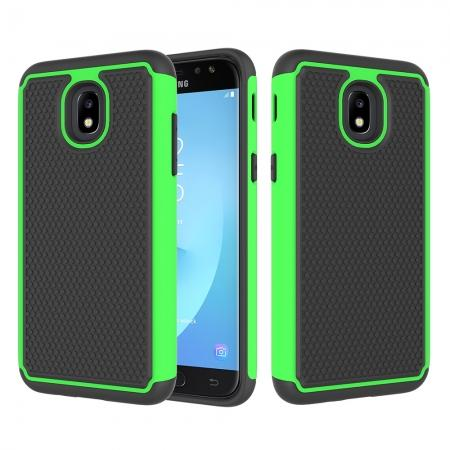 Hybrid Dual Layer Shockproof Protective Phone Case Cover For Samsung Galaxy J3 (2018) - Green