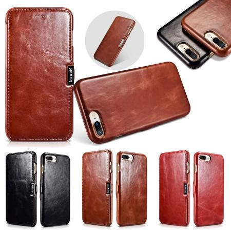 ICARER Vintage Genuine Leather Side Magnetic Flip Case for Apple iPhone 6 7 7 Plus 8 8 Plus X + 【FREE SHIPPING】