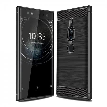 Slim Flexible TPU Case Anti-slip Anti-Scratch Protective Case for Sony Xperia XZ2 Premium - Black