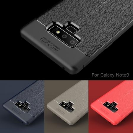 For Samsung Note 9 Litchi Grain Carbon Fiber Shockproof Soft Case Cover