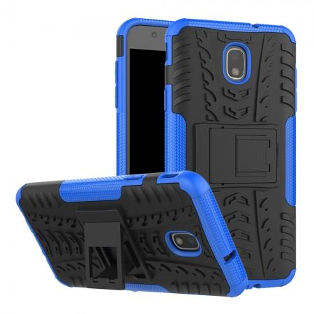Rugged Armor Shockproof Protective Kickstand Phone Case For Samsung Galaxy J3 (2018) - Blue