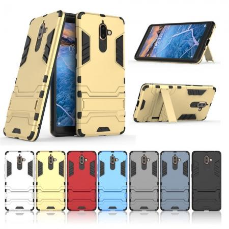 For Nokia 7 Plus 2018 Case with Built-in Kickstand Hybrid Rugged Armor Cover