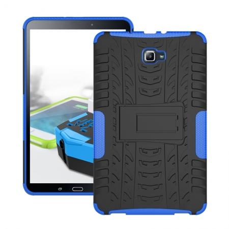 Heavy Duty Hybrid Protective Case with Kickstand For Samsung Galaxy Tab A 10.1 Inch SM-T580 SM-T585 - Blue