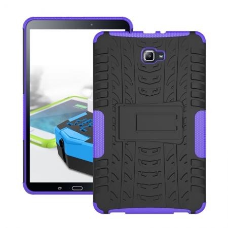 Heavy Duty Hybrid Protective Case with Kickstand For Samsung Galaxy Tab A 10.1 Inch SM-T580 SM-T585 - Purple