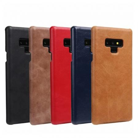 Matte Cowhide Leather Back Case for Samsung Galaxy Note 9