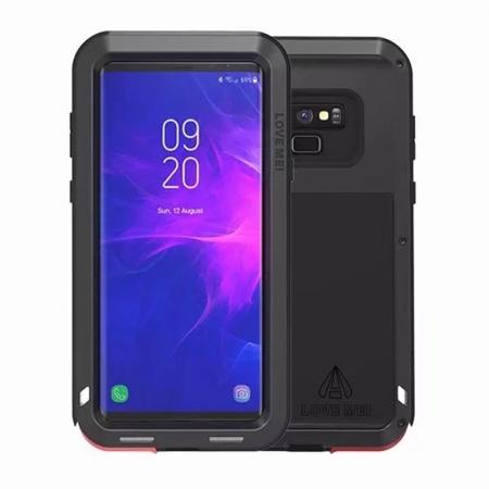 Shockproof Aluminum Metal Case Heavy Duty Cover For Samsung Galaxy Note 9 - Black