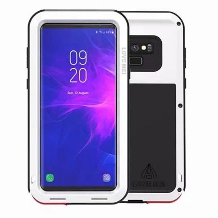 Shockproof Aluminum Metal Case Heavy Duty Cover For Samsung Galaxy Note 9 - White