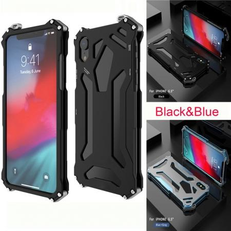 R-JUST Gundam Shockproof Full Aluminum Metal Case Cover for iPhone 6 7 8 8 Plus X XS XS MAX XR