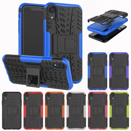 Shockproof Hybrid Armor Rugged Hard Rubber Back Case Cover for iPhone Xs Max XR XS