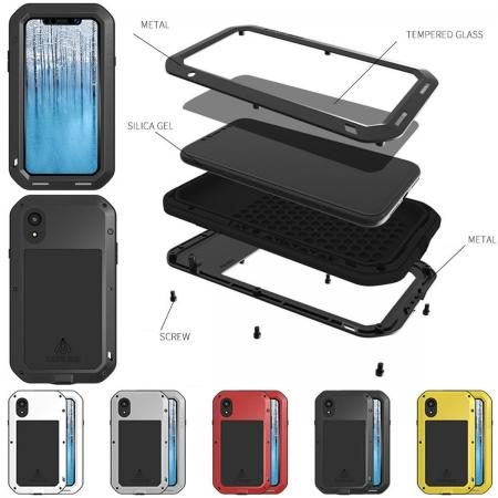 Waterproof Aluminum Gorilla Metal Cover Case For iPhone XS XR XS Max X 5 5S 6&6S 7 8 Plus