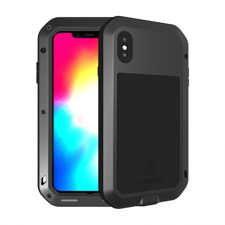 Waterproof Shockproof Metal Aluminum Gorilla Case for iPhone XS Max - Black