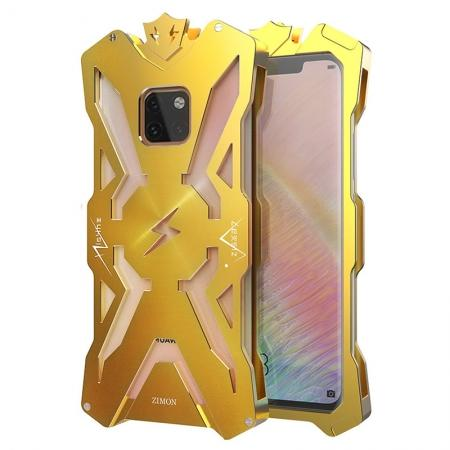Shockproof Aluminum Metal Case for Huawei Mate 20 Pro - Gold