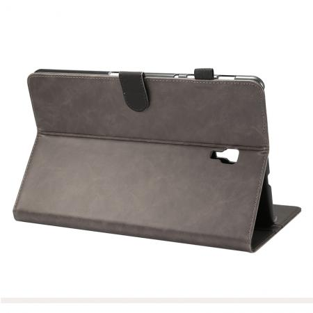Crazy Horse Texture Stand Leather Case for Samsung Galaxy Tab S4 10.5 T830/T835 - Grey