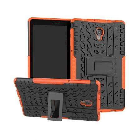 Dual Layer Protection Shockproof Cover Hybrid Rugged Case with Kickstand for Samsung Galaxy Tab A 10.5 [SM-T590/SM-T595] - Orange