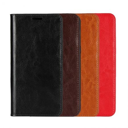 Luxury Genuine Real Leather Flip Wallet Case Cover For iPhone 6/6S / 7 / 7 Plus / 8 Plus / X / XS Max / XR