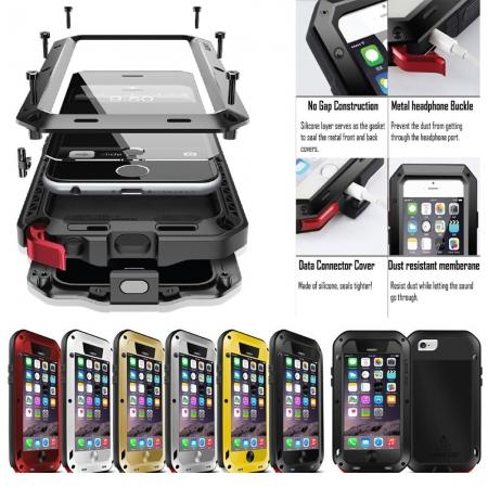 Shockproof Aluminum Gorilla Metal Glass Metal Case Cover for iPhone 6 / 7 / 8 / X XS XR XS Max