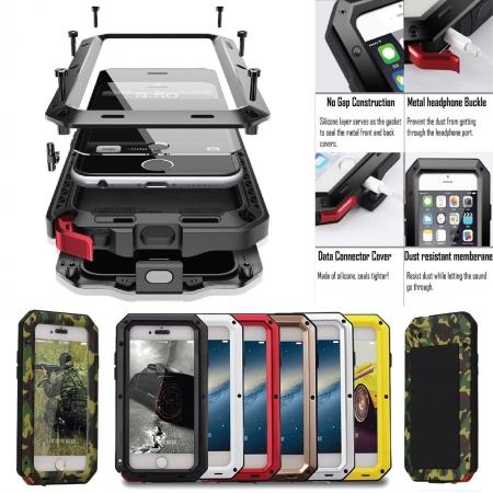 Shockproof Aluminum Gorilla Metal Glass Metal Case Cover for iPhone XS Max / XR / XS