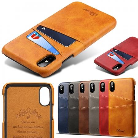 Wallet Style 2 Card Slots Leather Case Back Cover for Samsung Galaxy S9 S9 Plus Note 9 / iPhone XS MAX / XR / XS