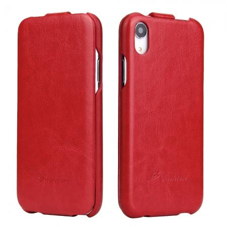 Crazy Horse Pattern Leather Case for iPhone XR - Red