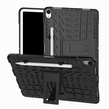 For iPad Pro 11-inch Dual Layer Hybrid Shockproof Kickstand Case - Black