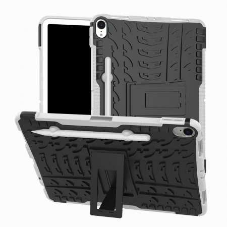 For iPad Pro 11-inch Dual Layer Hybrid Shockproof Kickstand Case - White