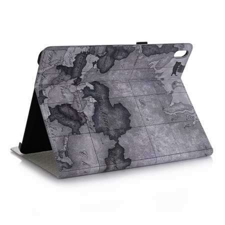 "Map Smart Leather Case for iPad Pro 12.9"" 2018 - Grey"