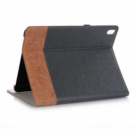 "Cross Pattern Stand Smart Leather Case for iPad Pro 12.9"" 2018  - Grey"