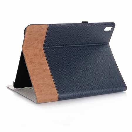 "Cross Pattern Stand Smart Leather Case for iPad Pro 12.9"" 2018  - Dark Blue"