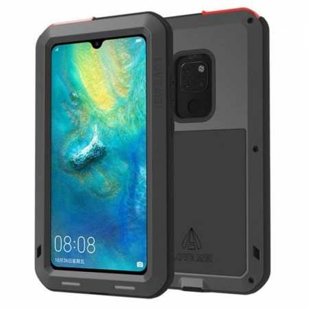 Shockproof Waterproof Metal Glass Case For Huawei Mate 20