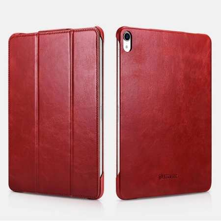 ICARER Vintage Series Genuine Leather Smart Case For iPad Pro 11 inch - Red