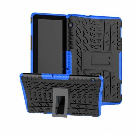For Huawei Mediapad T5 10 10.1inch Case Shockproof Rugged Armor Hybrid Protective Cover - Blue