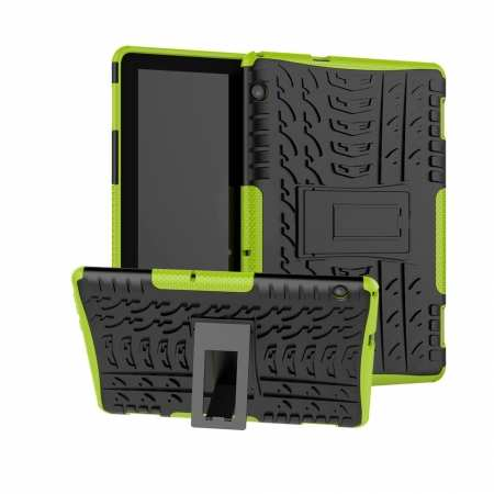 For Huawei Mediapad T5 10 10.1inch Case Shockproof Rugged Armor Hybrid Protective Cover - Green