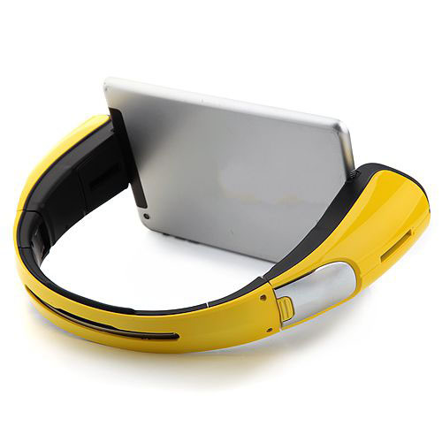 Portable COWIN C-9 Hero Multifunctional Foldable NFC Bluetooth Stand Speaker for Tablet PC - Yellow