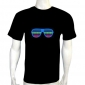 led light t shirt,Glass EL LED T-Shirt Funny Gadgets Rave Party Disco Light