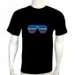 Glass EL LED T-Shirt Funny Gadgets Rave Party Disco Light
