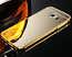 Luxury Metal Aluminum Bumper & Acrylic Mirror Back Case Cover For Samsung Galaxy S7 Edge - Gold