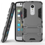 Slim Armor Kickstand Tough Protective Cover Case For ZTE AXON 7 Mini 5.2 inch - Gray